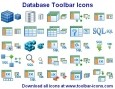 Datenbank Toolbar Icons