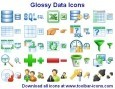 Glossy Data Icons