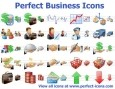 Perfekte Business Icons