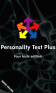 Personality Test Plus
