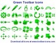 Green Toolbar Icons