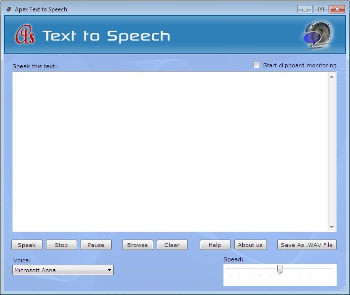 Apex Text to Voice Converter