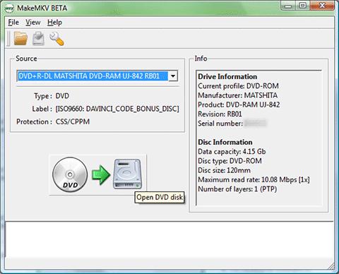MakeMKV for Mac OS X 1.7.10 Beta