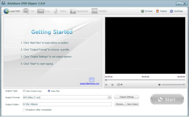 Ainishare Free DVD Ripper