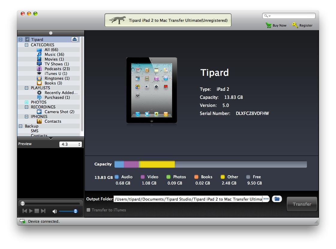 Tipard iPad 2 to Mac Transfer Ultimate