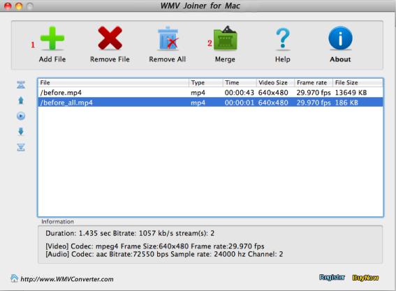 WMV joiner for Mac