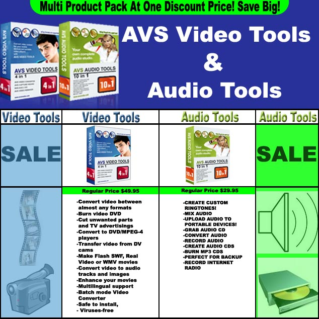 AVS Video And Audio Tools Bundle