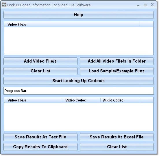 Lookup Codec Information For Video File Software