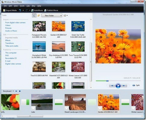Windows Movie Maker for Windows Vista