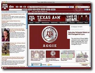 Texas A&M Aggies IE Browser Theme