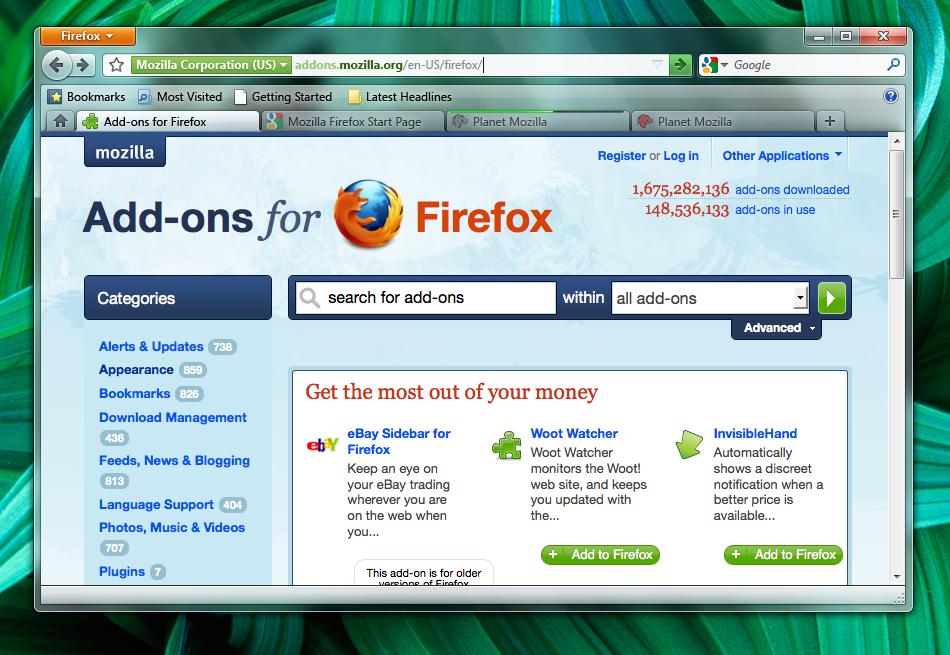 Firefox 4.0 Mockup Theme