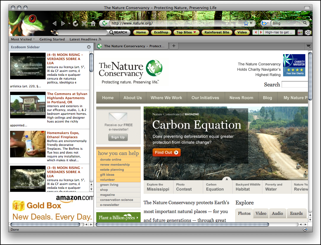 ECO Green Nature Theme for Firefox