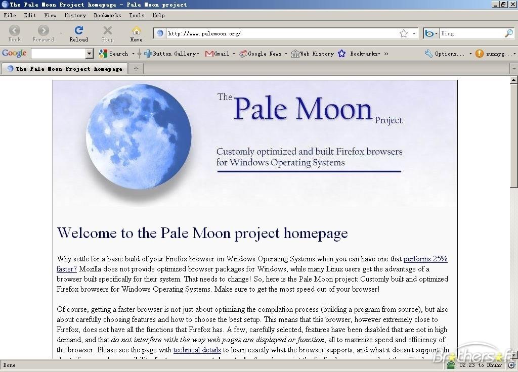 Pale Moon x64