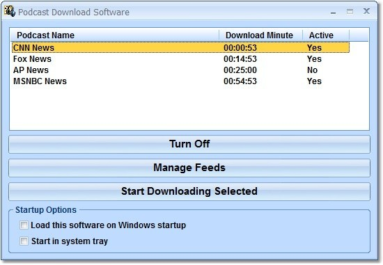 Podcast Download Software