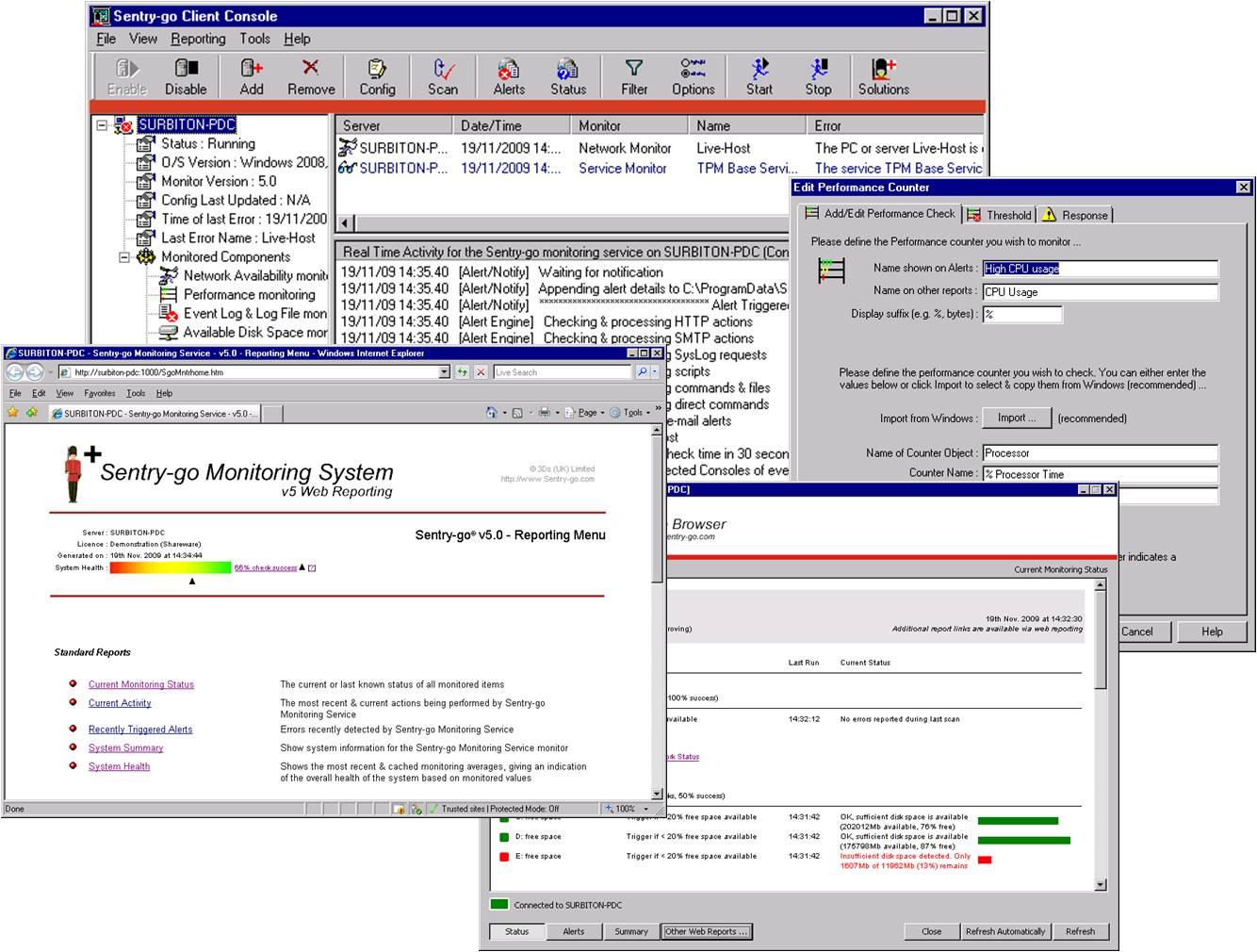 Sentry-go Quick IIS Web Monitor