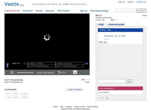 Veetle TV for Mac 0.9.19beta