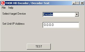 HD Encoder / Decoder Test