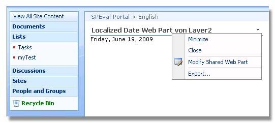 FREE SharePoint Localized Date Web Part