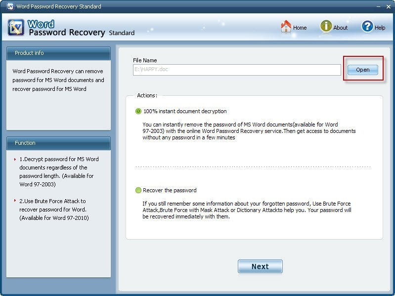 Word Password Recovery Professional