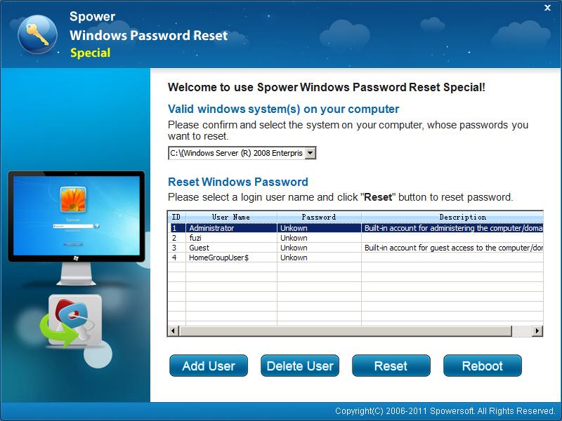 Windows Server 2008 Password Reset
