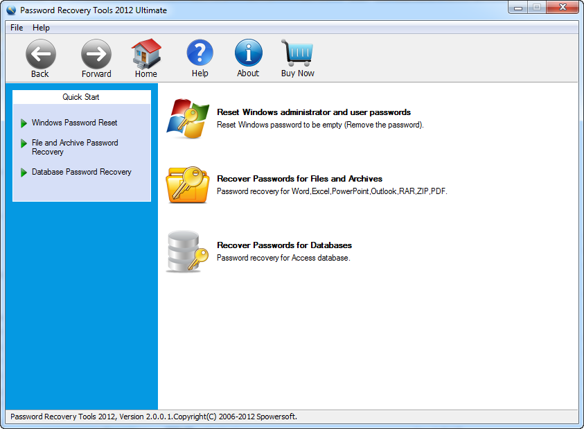 Password Recovery Tools 2012 Ultimate