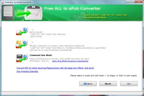 Cxoft Free Converter to ePub