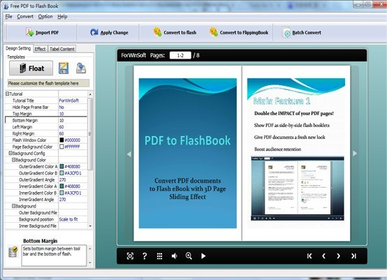 ForwinSoft Free PDF to Flash Book