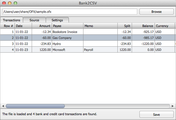 Bank2CSV Mac