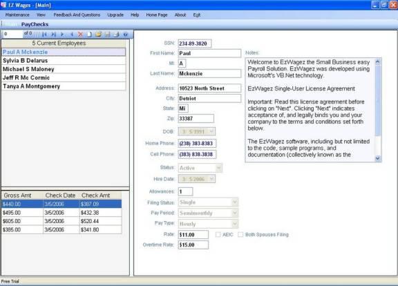 EzWagez Payroll System