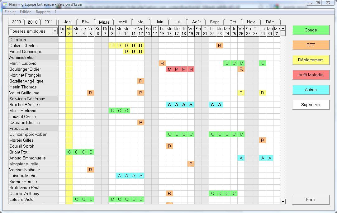 Logiciel Planning Equipe Entreprise