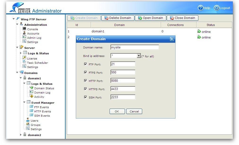 Wing FTP Server For Linux(64bit)
