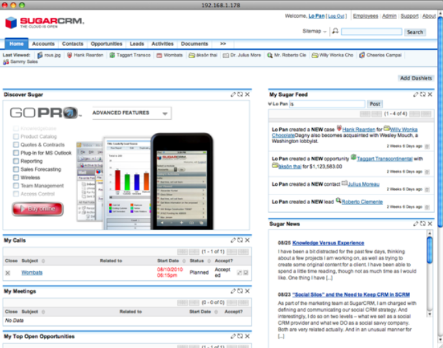 JumpBox for the SugarCRM 6.x CRM System