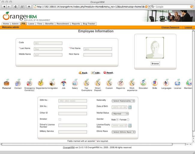 php hr management system