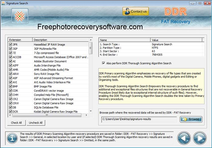 Free Fat Recovery Software