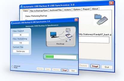 USB backup & synchronize portable