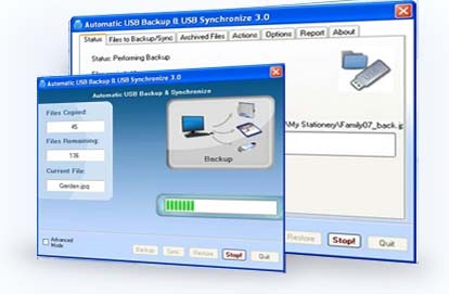 Automatic USB Backup Real time
