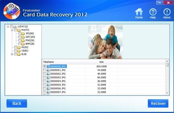 Finalseeker Card Data Recovery 2012