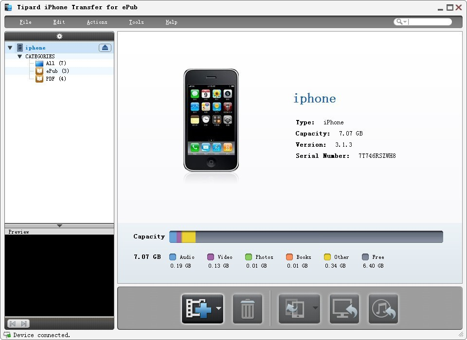 Tipard iPhone Transfer for ePub