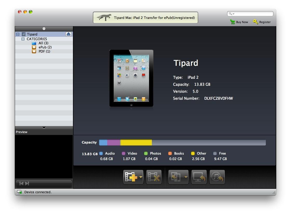 Tipard Mac iPad 2 Transfer for ePub