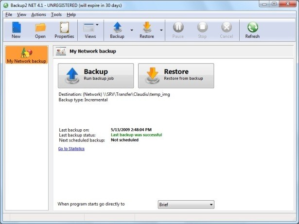 Backup to NET OEM Backup Software