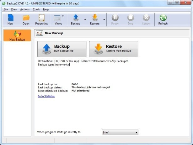 Backup to DVD OEM Backup Software
