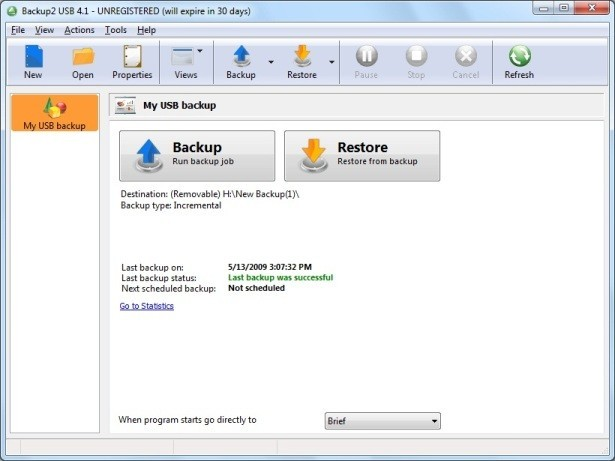 Backup to USB Brandable Backup Software