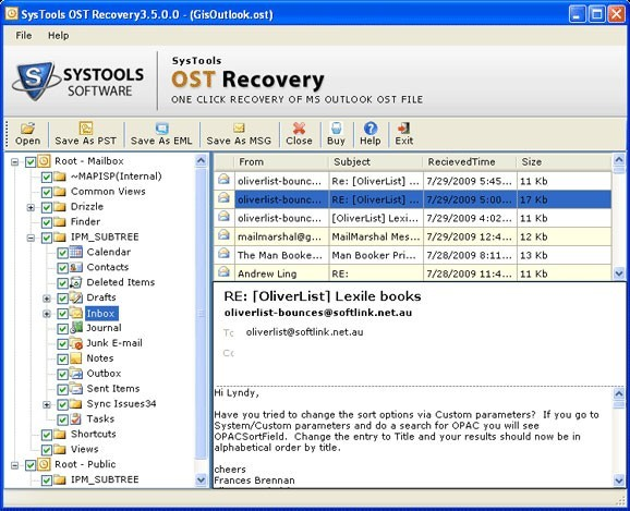 data recovery pst: