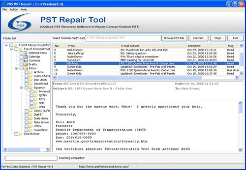 Export Email PST Outlook 2007