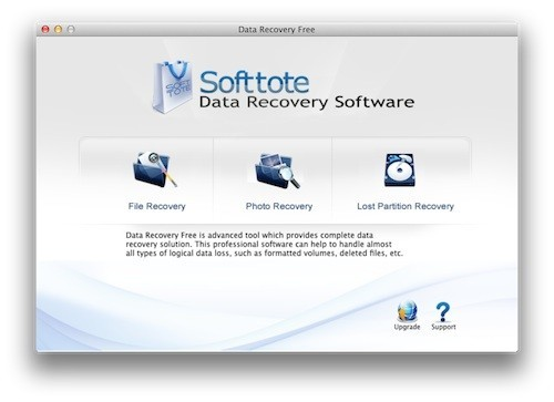 Softtote Data Recovery Free for Mac