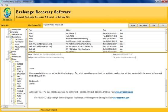 Microsoft Priv1.EDB Recovery