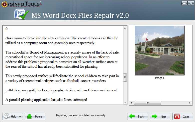 MS Word Docx Recovery from SysInfoTools