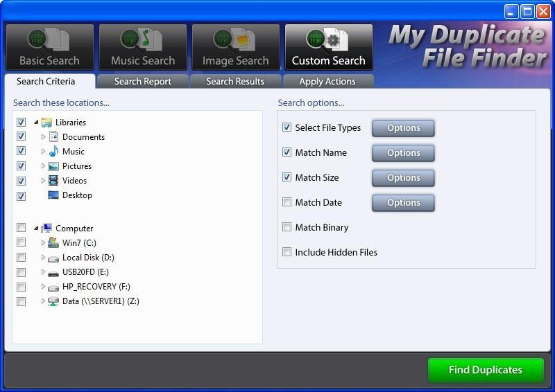 My Duplicate File Finder