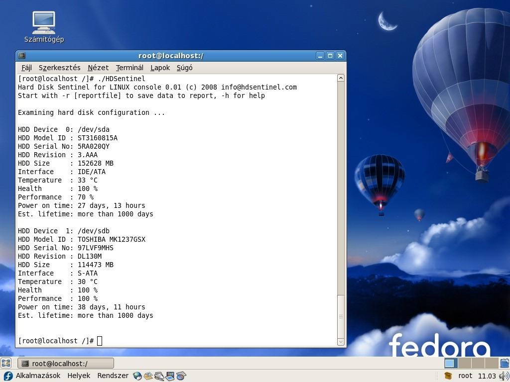Hard Disk Sentinel Linux