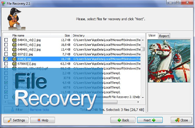 Easy digital image recovery